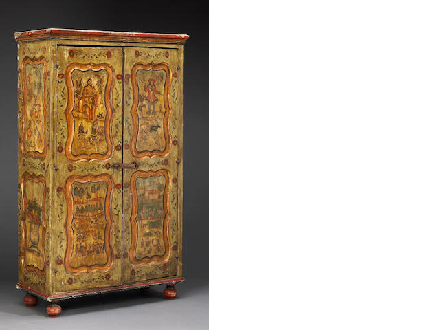 A Spanish Colonial painted armoire