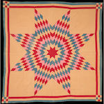 A pieced cotton 'Ohio Lone Star' quilt