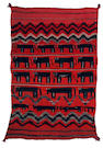 A Navajo transitional pictorial rug, 6ft 9in x 4ft 5in