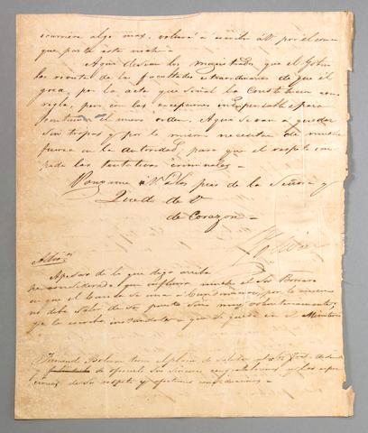 BOLIVAR, SIMON.  1783-1830.