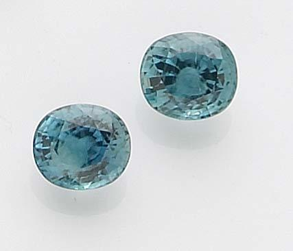 Pair of Blue Zircons