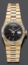 "A Rolex, Geneve ""Day Date"" gold and diamond bracelet wristwatch,"