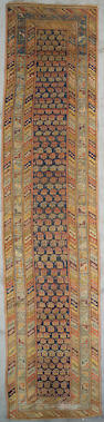 A Derbend runner Caucasus, Size approximately 3ft 4in x 13ft 11in