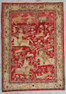 A Tabriz pictorial rug Northwest Persia, Size approximately 4ft x 5ft 6in