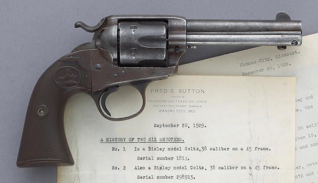 An historic Colt Bisley revolver attributed to outlaw Little Bill Raidler