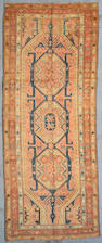 A Karabagh runner Caucasus, Size approximately 4ft 7in x 11ft 4in
