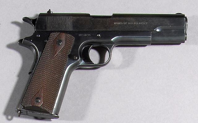 A U.S. Colt Model 1911 semi-automatic pistol Curio or Relic firearm