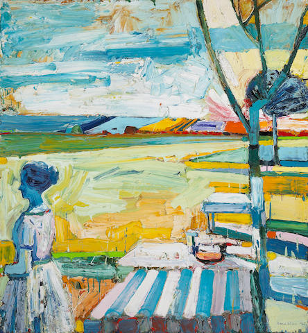 Roland Petersen (American, b. 1926) Picnic Table with Trees, 1964 60 x 56in (153 x 142cm)