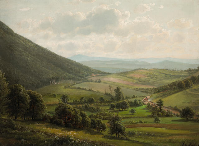 Ferdinand (Joachim) Richardt (1819-1895) New York State Countryside 25 x 34in
