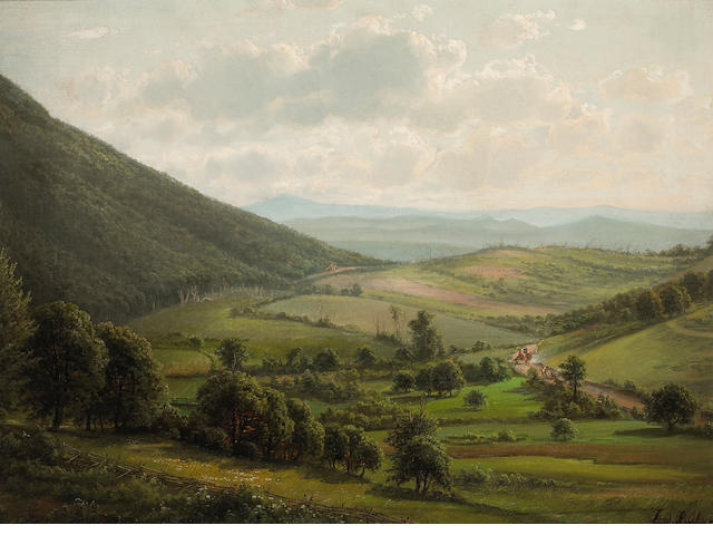 Ferdinand Reichardt, New York State Countryside, oli on canvas