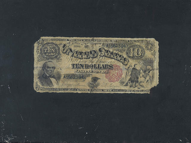 Nicholas Alden Brooks (1840-1904) Ten Dollar Bill 9 x 12in