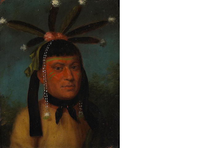 ****on inspection*** two native american portraits.