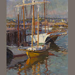 Emile A. Gruppé (1896-1978) Gloucester Harbor 30 x 25in