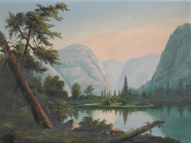 Albert Leighton Rawson (1829-1902) A Mountain Landscape; A Tropical Landscape (a pair) each 22 1/2 x 30 1/2in