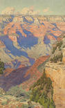 Gunnar Mauritz Widforss (1879-1934) View into the Grand Canyon 16 1/2 x 10 1/4in