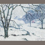 Guy Carleton Wiggins (1883-1962) Midwinter 8 x 10in