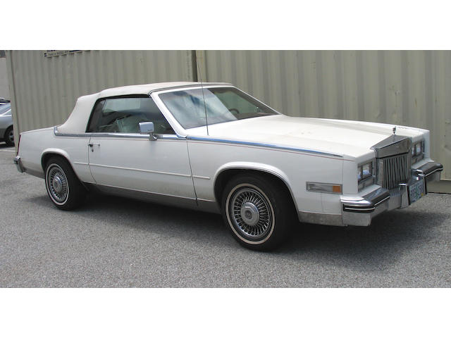 1984 Cadillac Eldorado Barritz Convertible  Chassis no. 1G6AL6780EE665990