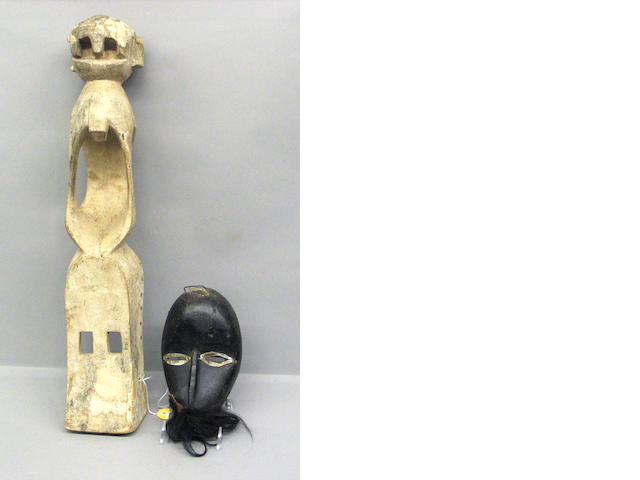 Two African monkey masks: Dogon, Dan