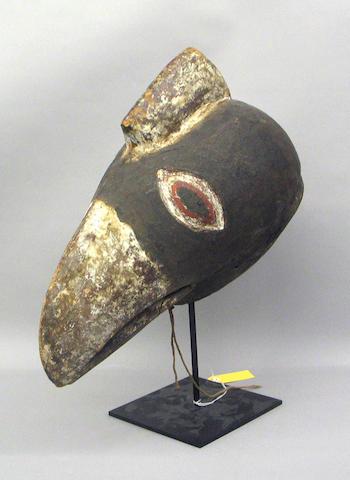 A Bobo hornbill mask