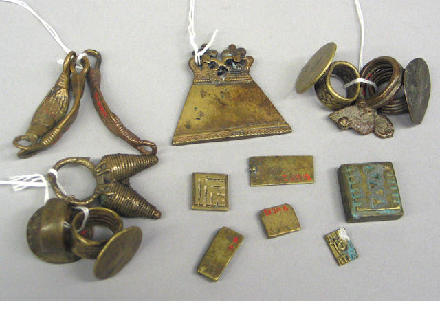 A group of African metal items (16)