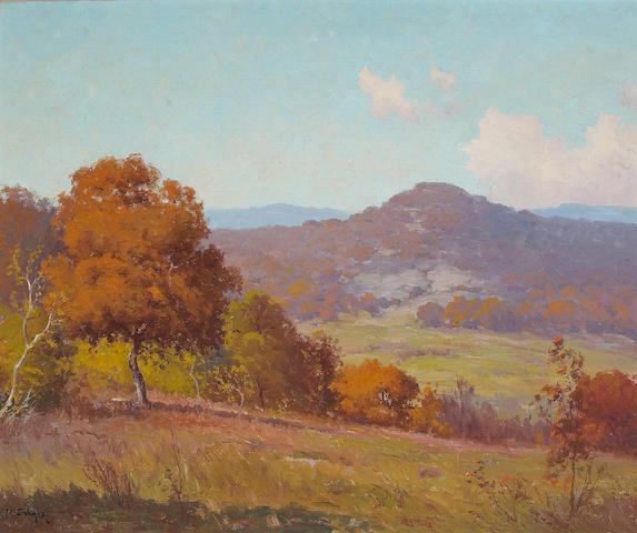 Porfirio Salinas (1910-1973) Rolling Hills (No. 18) 25 x 30 1/4in