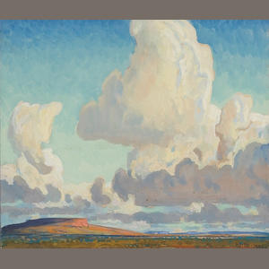 Maynard Dixon (1875-1946) Big Clouds over the Mesa, 1925 sight 8 1/2 x 9 3/4in
