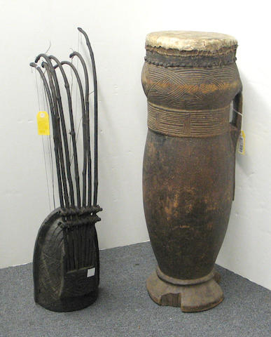 Two Congo musical instruments