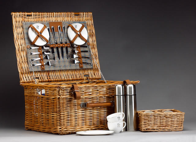 A Rolls Royce 4-person picnic basket, by W Gadsby & Son,