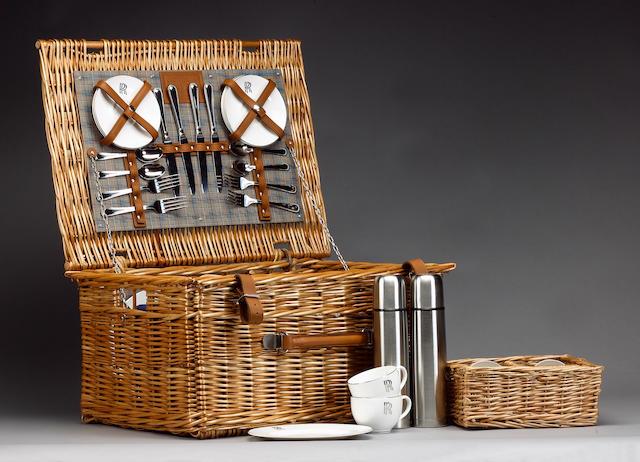 A Rolls Royce 4-person picnic basket, by W Gadsby & Son,