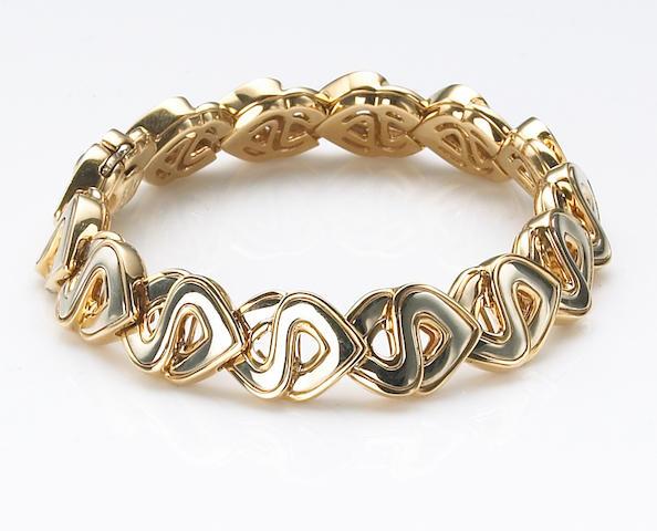 "An eighteen karat white and yellow gold ""Soraya"" bracelet, Marina B."