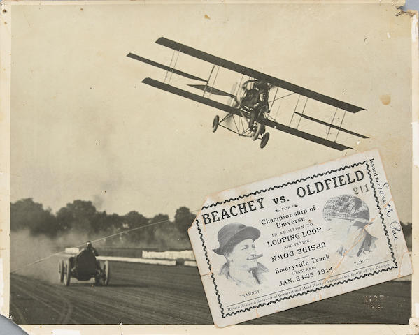 Beachey Vs Oldfield for 'Championship of the Universe' memorabilia, 1914,