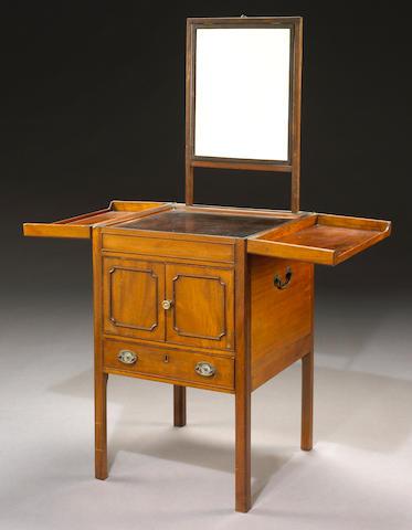 A George III mahogany gentleman's dressing table