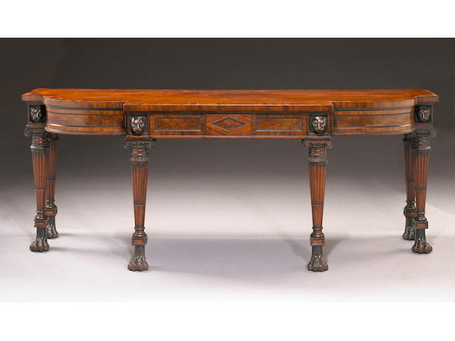 A Regency carved mahogany console table