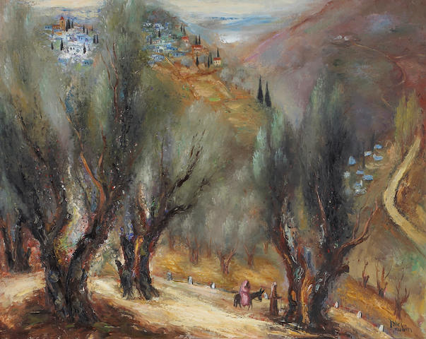 Reuven Rubin: Desert Mountain Scene