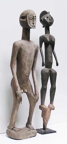 Two African figures: Mossi, Dogon