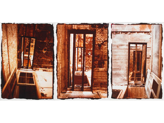 Gordon Matta-Clark (American 1943-1978) Doors, Through and Through, 1976 21 x 25½in (54½ x 65cm) 20