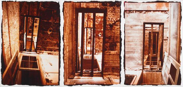 Gordon Matta-Clark (American 1943-1978) Doors, Through and Through, 1976 21 x 25½in (54½ x 65cm) 20