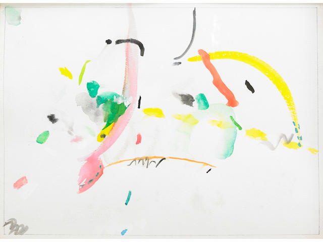 Richard Tuttle (American b. 1941) Crows on the Roof #12, 1988 11 x 15in (28 x 38cm)