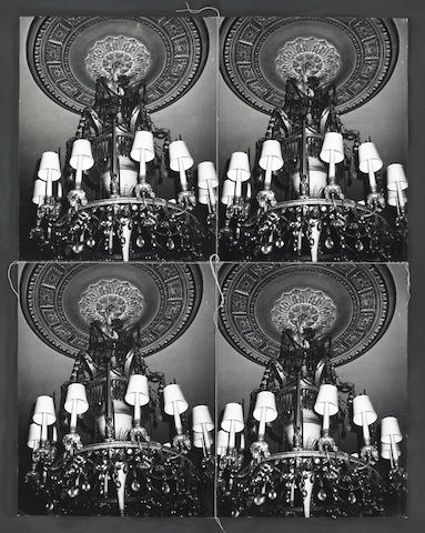 Andy Warhol (American 1928-1987) Chandelier with Shades, 1976-86 37 x 31in (94 x 79cm) 28 x 22in (71