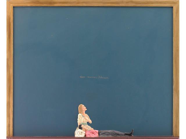 Nicholas Africano (American b. 1948) Girl of the Golden West, 1980 48 x 60 x 4in ((122 x 153 x 10cm)