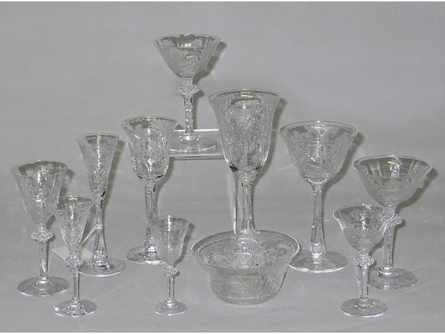 A suite of American 'rock crystal' cut stemwareT. G. Hawkes & Company, Corning, N.Y.
