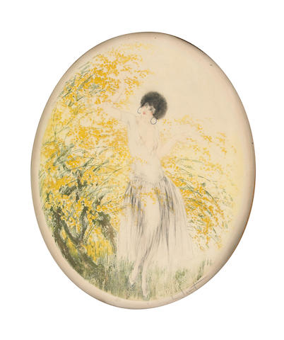 Louis Icart; Forsythia;