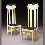 A pair of cream-painted Scottish style side chairs