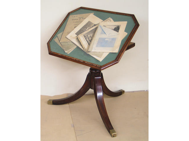 Edmund Gill (British 1820-1894) Trompe l'oeil drawing depicting manuscripts, 18 1/2 x 25in