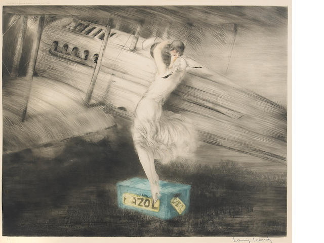 Louis Icart; Before the Raid;