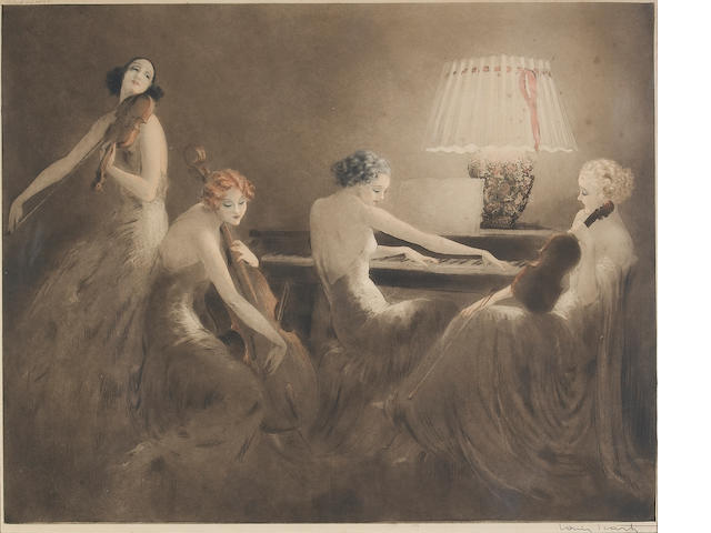 Louis Icart; Melody Hour;