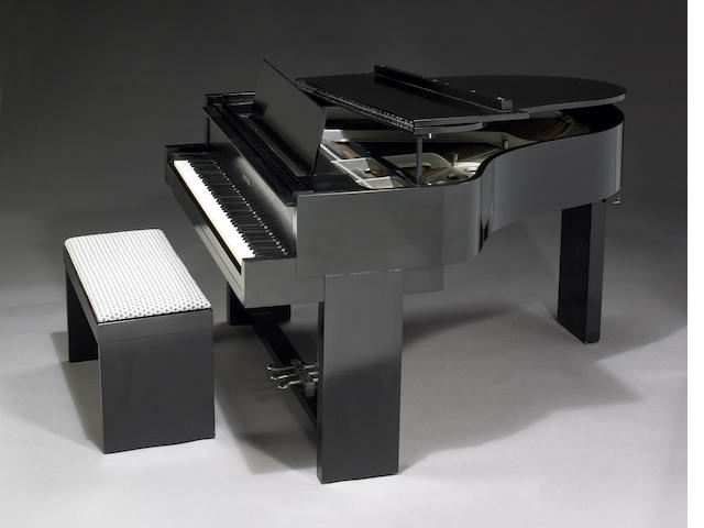 A Samuel Marx custom Steinway Baby Grand piano and piano bench