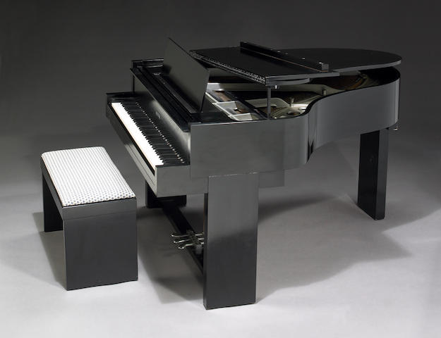 A Samuel Marx custom Steinway Baby Grand piano and piano bench