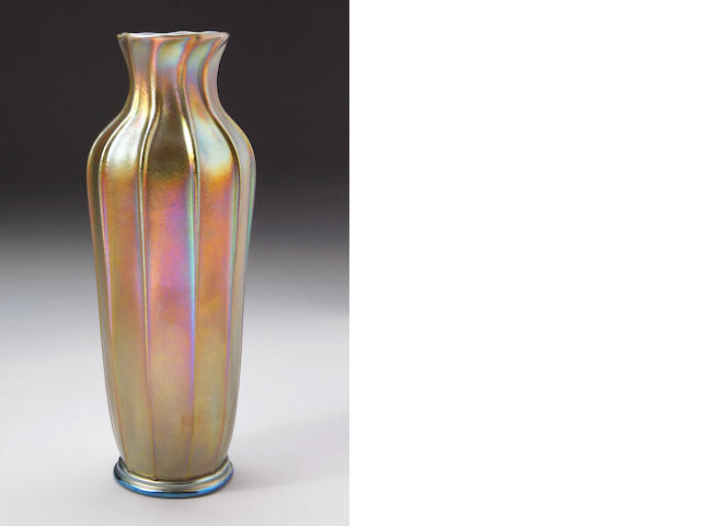 A Tiffany Studios Favrile glass vase