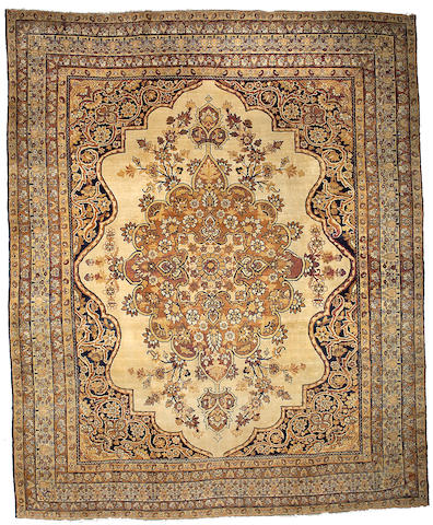 A Kerman carpet South Central Persia, Size approximately 12ft 6in x 10ft 2in